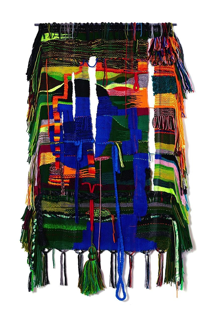 "2016, 62"" x 36"",  acrylic, wool, cotton"