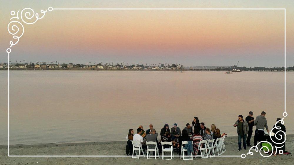 Sunset Beach Bonfire San Diego