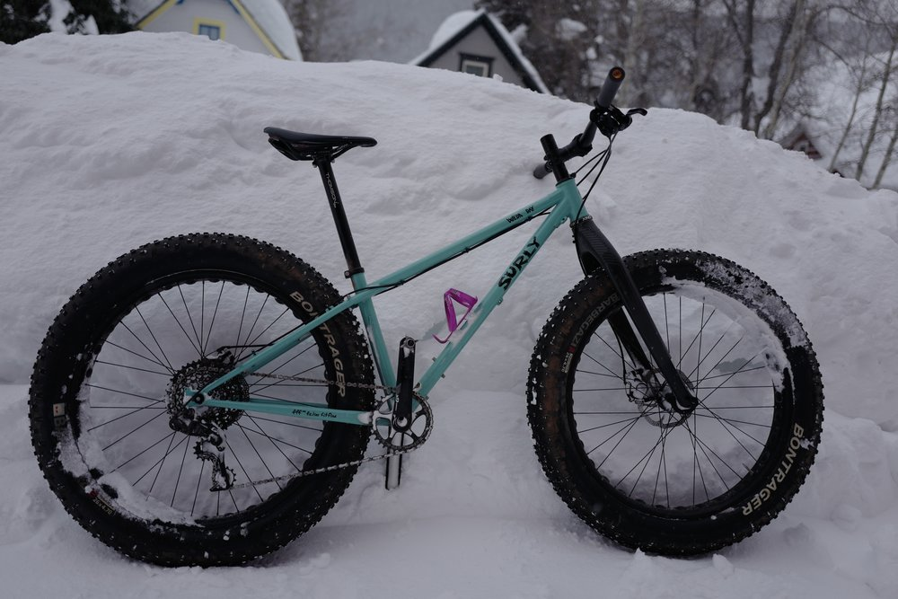 Crystal's Surly Wednesday. Ready for all the snow.