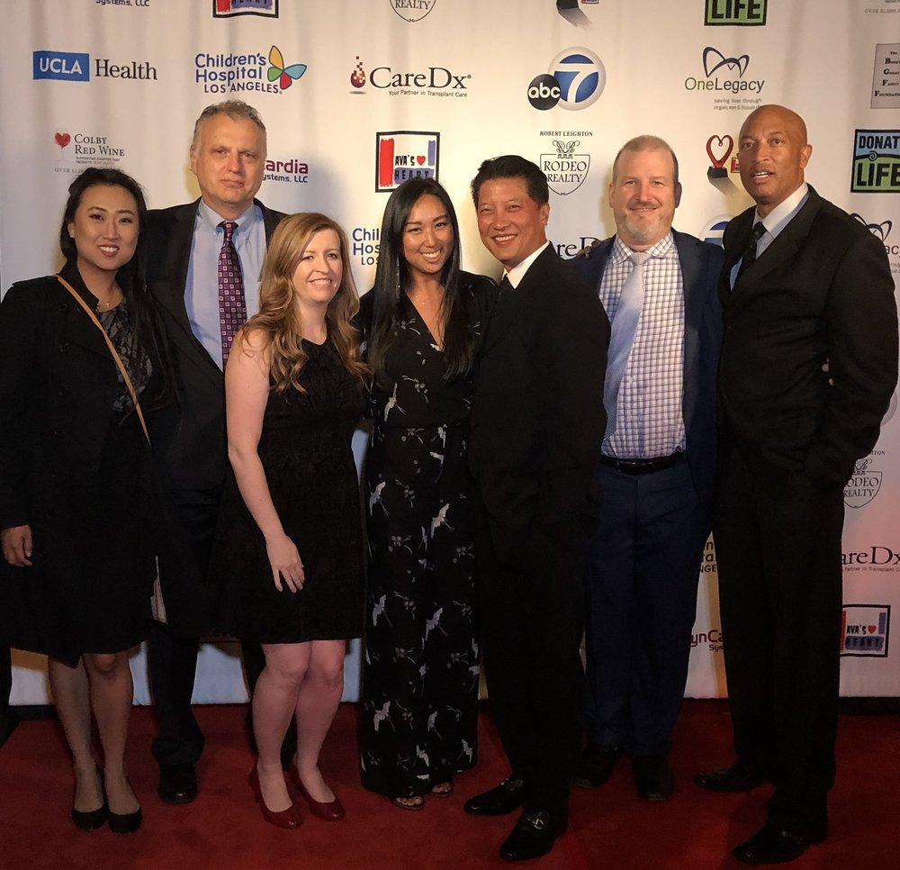 Left to Right: Jeanne Hwang, Don Webber (COO, Syncardia), Janelle Drumwright (Marketing Director, Syncardia), myself, Joseph Tseng (Sr. Sales Manager, Syncardia), Matt Dufner (Clinical Technician, Syncardia), Lance E. White (Past TAH Patient)