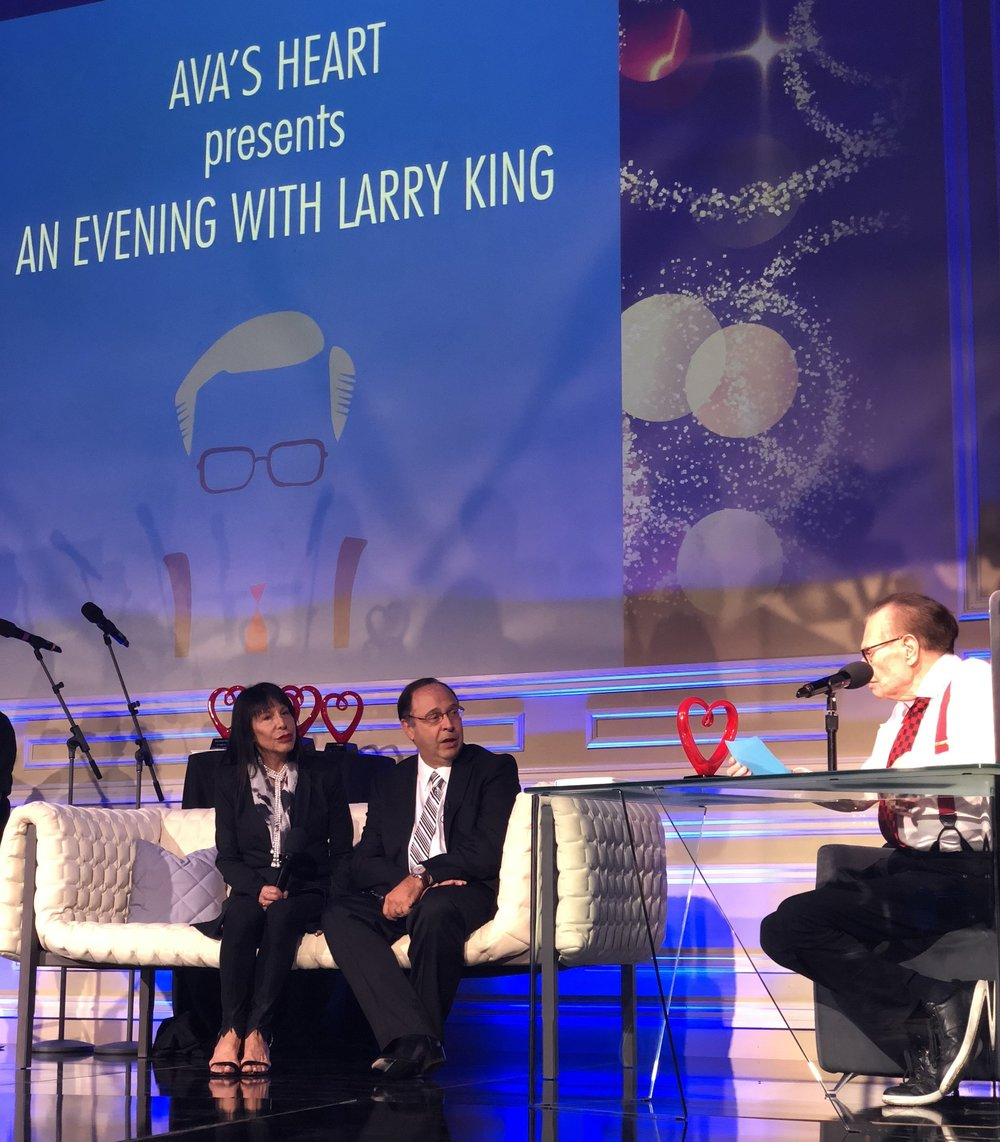 Larry King interviews Dr. Francisco A. Arabia accompanied by Ava Kaufman