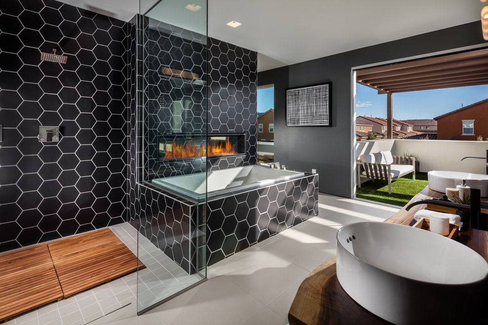 Contemporary Master Bath for Pardee Homes Las Vegas
