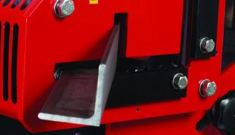 Angle Mitering  The angle station allows mitering at 45 degrees. The capacity is less than the 90° mitering capabilities.