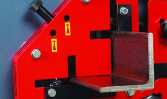 Angle Station  The angle cavity is equipped with an easily adjustable hold down to increase sheared blank quality.