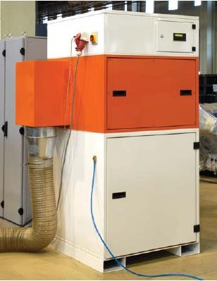 Dust Extraction (Filter)  Compact dust extractor with filter. Capacity 2500 m3/Hour  Suitable for 12mm mild steel or less.