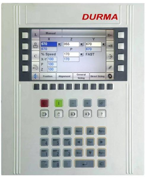 "NC Control Unit S530  In additional to the digital readout the NC control can be programmed but also features the ""teach in"" mode where the operator can record all steps.  In automatic mode the machine we re-trace all steps.  This NC Control Unit has a Colour TFT LCD 7"" Screen"
