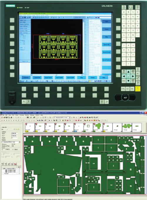 Software   CAD/CAM software features: ■ Automatic Contour Check and Correction ■ Automatic Punching ■ Supports Wire-Joints and Micro-Joints ■ Allows Predefined Shapes Placement ■ Full Common Cut Support ■ Turret Setup Customization ■ Sheet Reposition and Transformation ■ Auto-Indexing ■ Offers Special Tools Support ■ Automatic and Manual Clamp Avoidance