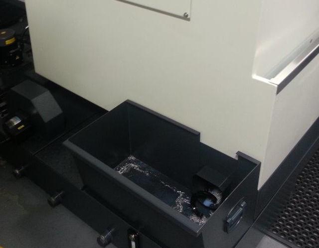 Swarf Management      - Swarf auger front mounted - Coolant Wash Gun      - Air Gun          - Oil skimmer