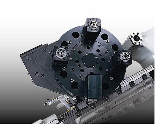 Live Tooling – VDI 30  The live tooling feature eliminates the need for many secondary milling operations thus reducing additional part handling and setup cost.  All stations of the top plate are live-tool ready.  A disc-type hydraulic brake provides positive locking during static machining operations