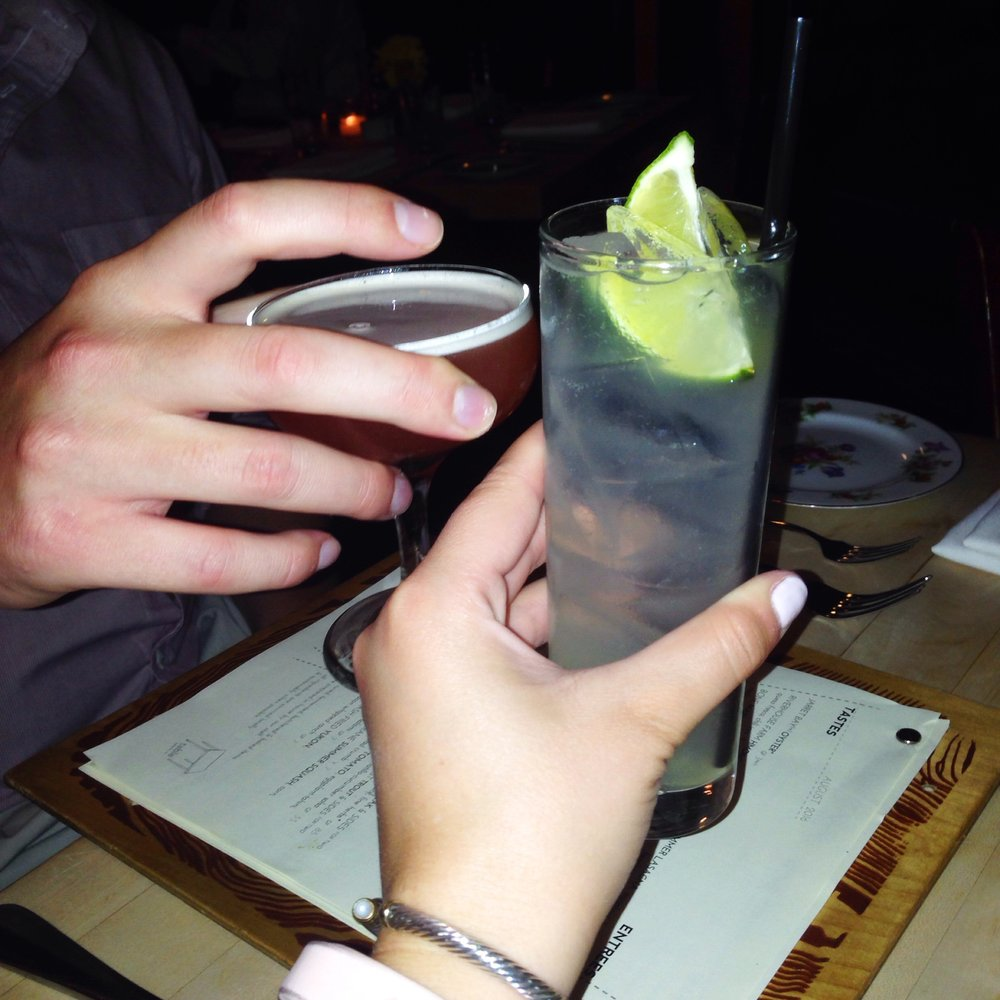 Cheers to Asheville! Cocktails at Table