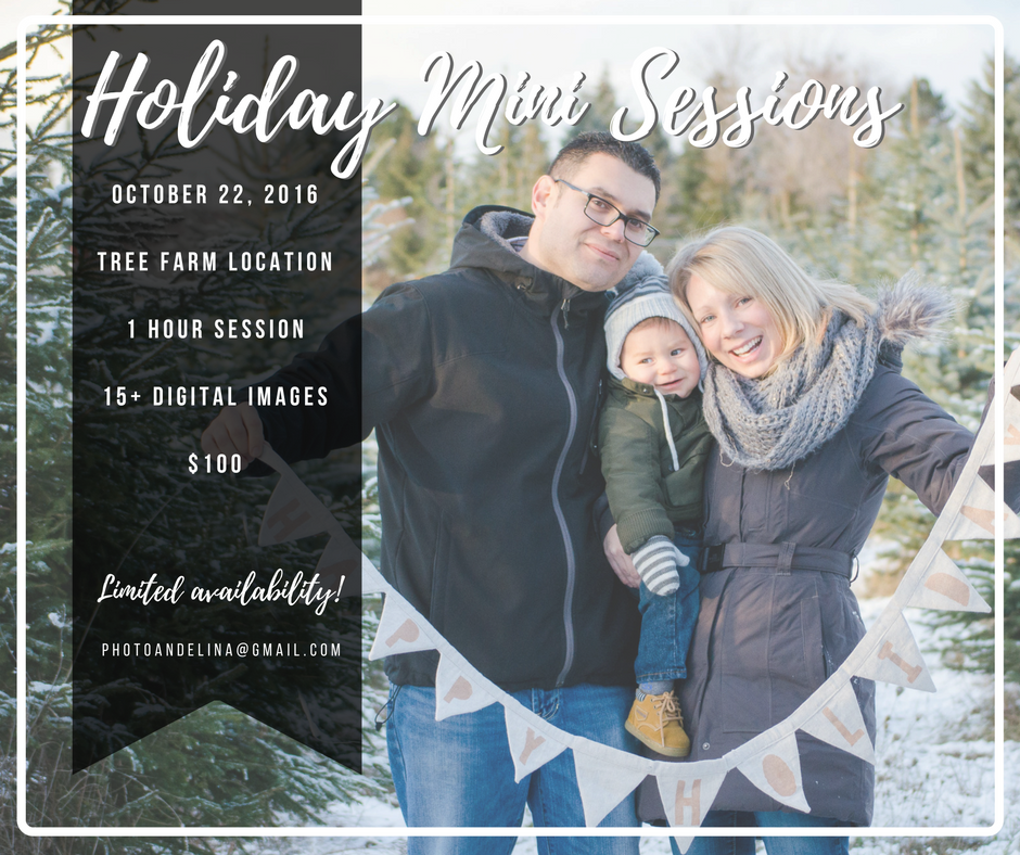 Holiday Mini Sessions - Barrie Family Photographer - PhotoAndelina
