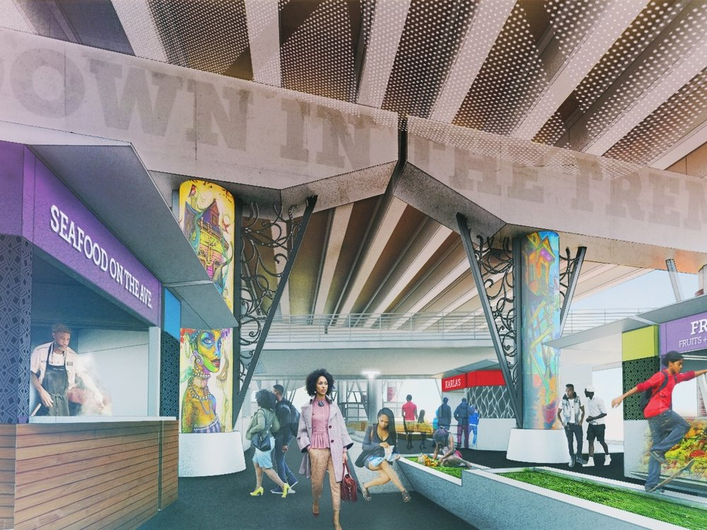 claiborne innovation district (CID) - A plan for a 19-Block transformation of space beneath the elevated I-10 expressway along Claiborne Avenue as a site for the residents of the Claiborne Corridor