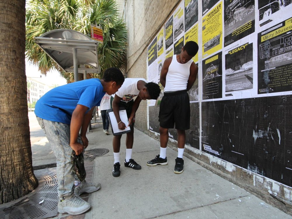paper monuments - A public art and public history project designed to elevate the voices of the people of New Orleans, as a critical process towards creating new narratives and symbols of our city