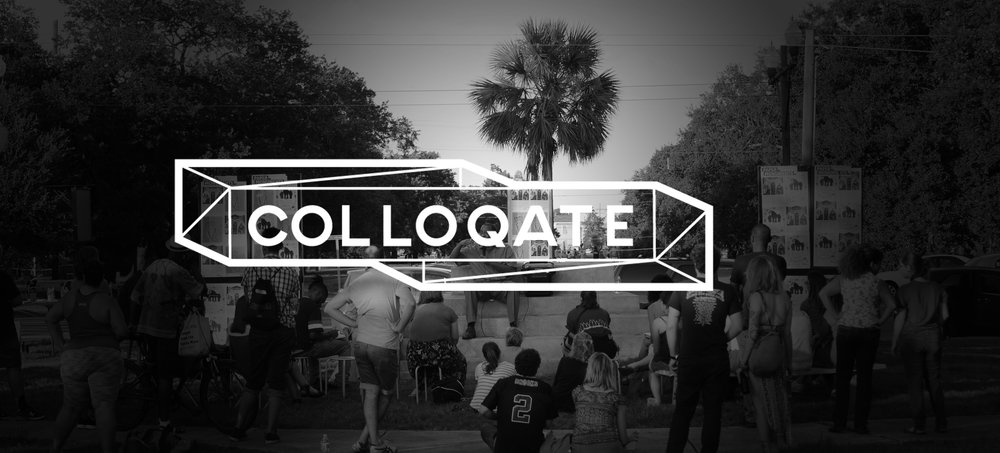 colloquial + locate + collocate: colloqate - col·lo·qui·al : kəˈlōkwēəl/ adjective (of language) used in ordinary, informal or a familiar conversation; not formal or literary. Conversational. Informallo·cate :ˈlōˌkāt,lōˈkāt/ verb 1. discover the exact place or position of. 2. Situate in and of a particular place. 3. place within a particular contextcol·lo·cate :ˈkäləˌkāt/ verb 1. (of a word) be habitually juxtaposed with another at a frequency greater than chance. 3.place side by side or in a particular relation.