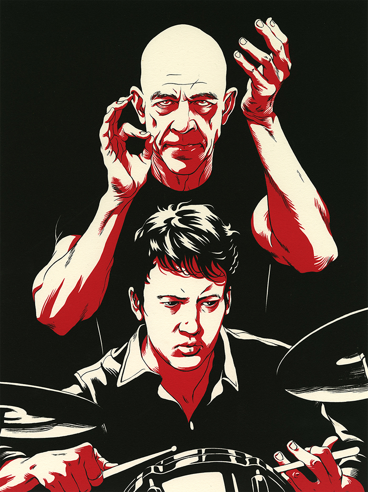Cun Shi Illustration Art Whiplash Entertainment Weekly EW