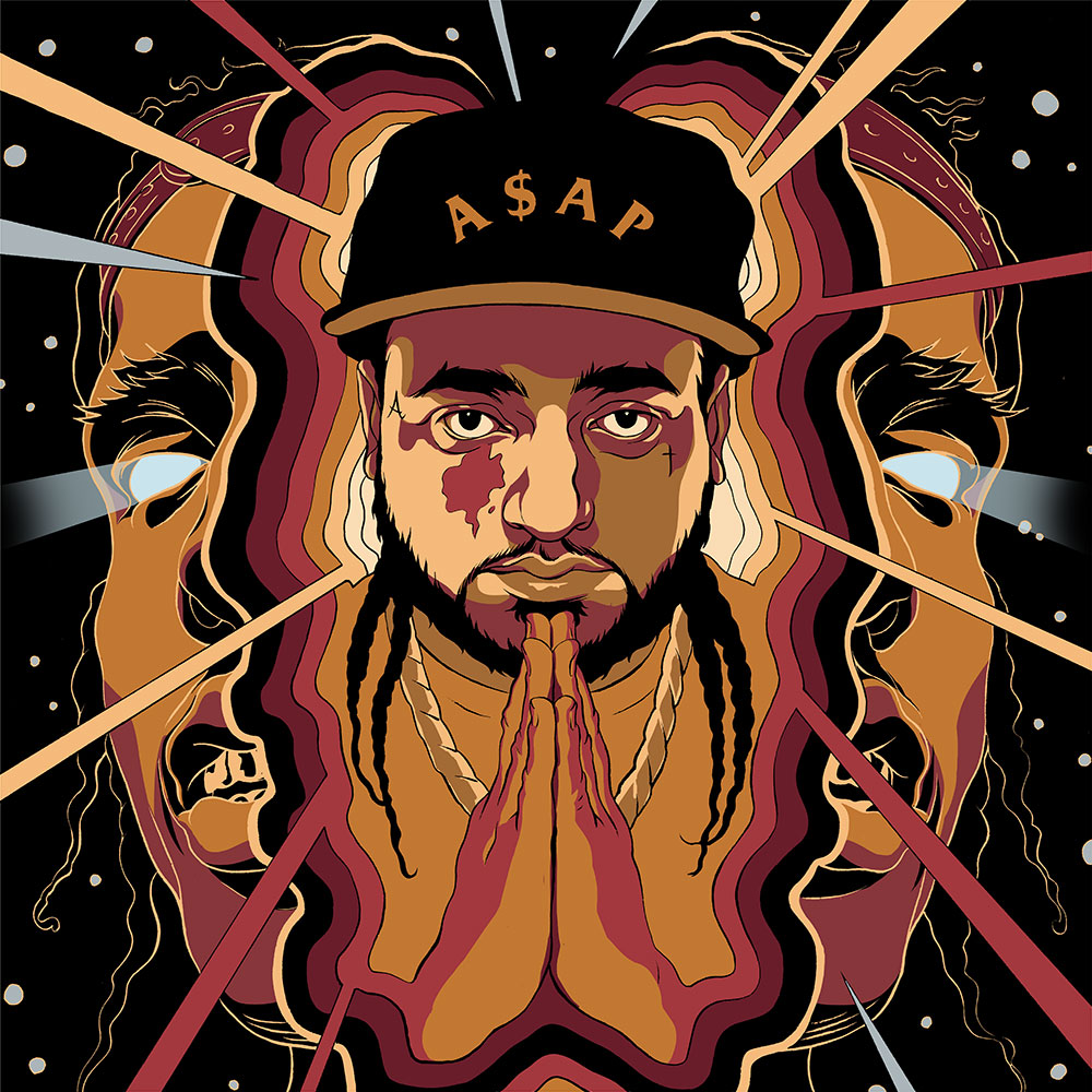 Cun Shi Illustration Art A$AP Yams New Yorker