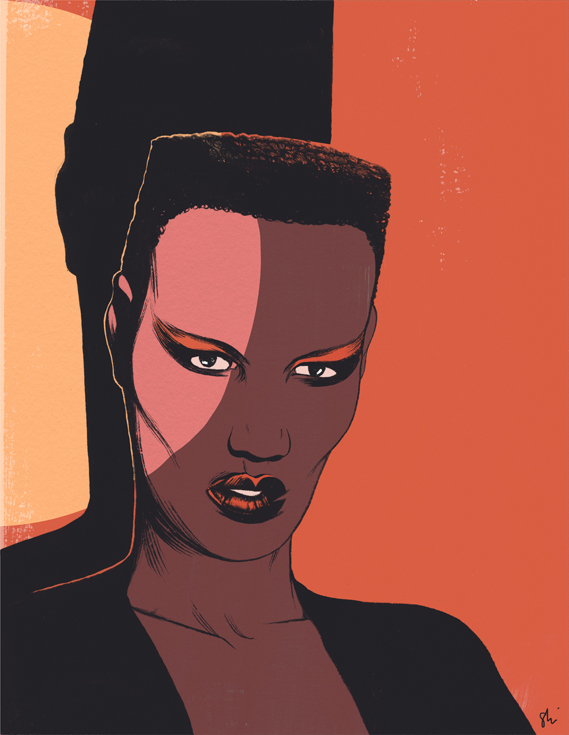 Cun Shi Illustration art grace jones