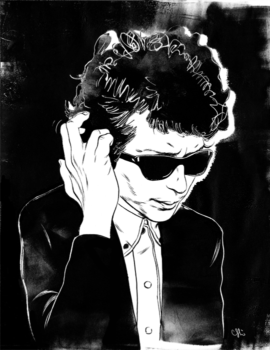 Cun Shi Illustration art bob dylan