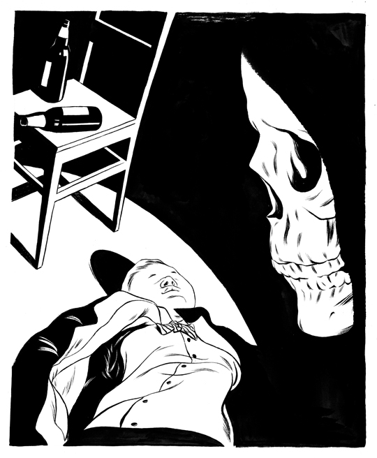 Cun Shi Illustration art inked death