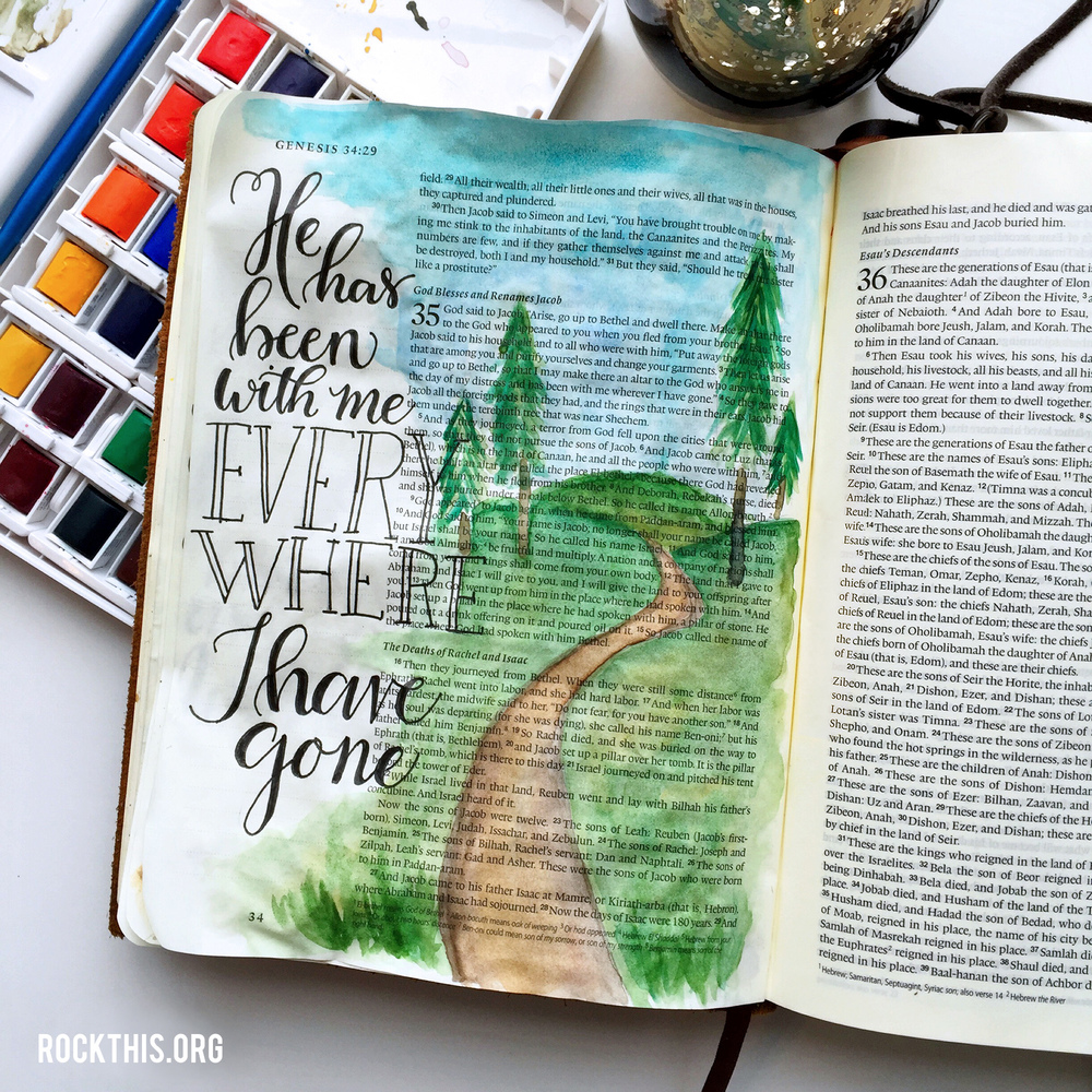 Bible Journaling by Neely Bettie | Matthew 28:20 I could so clearly see our path so far. As I walked down it in my mind, I could see each memory we have made.