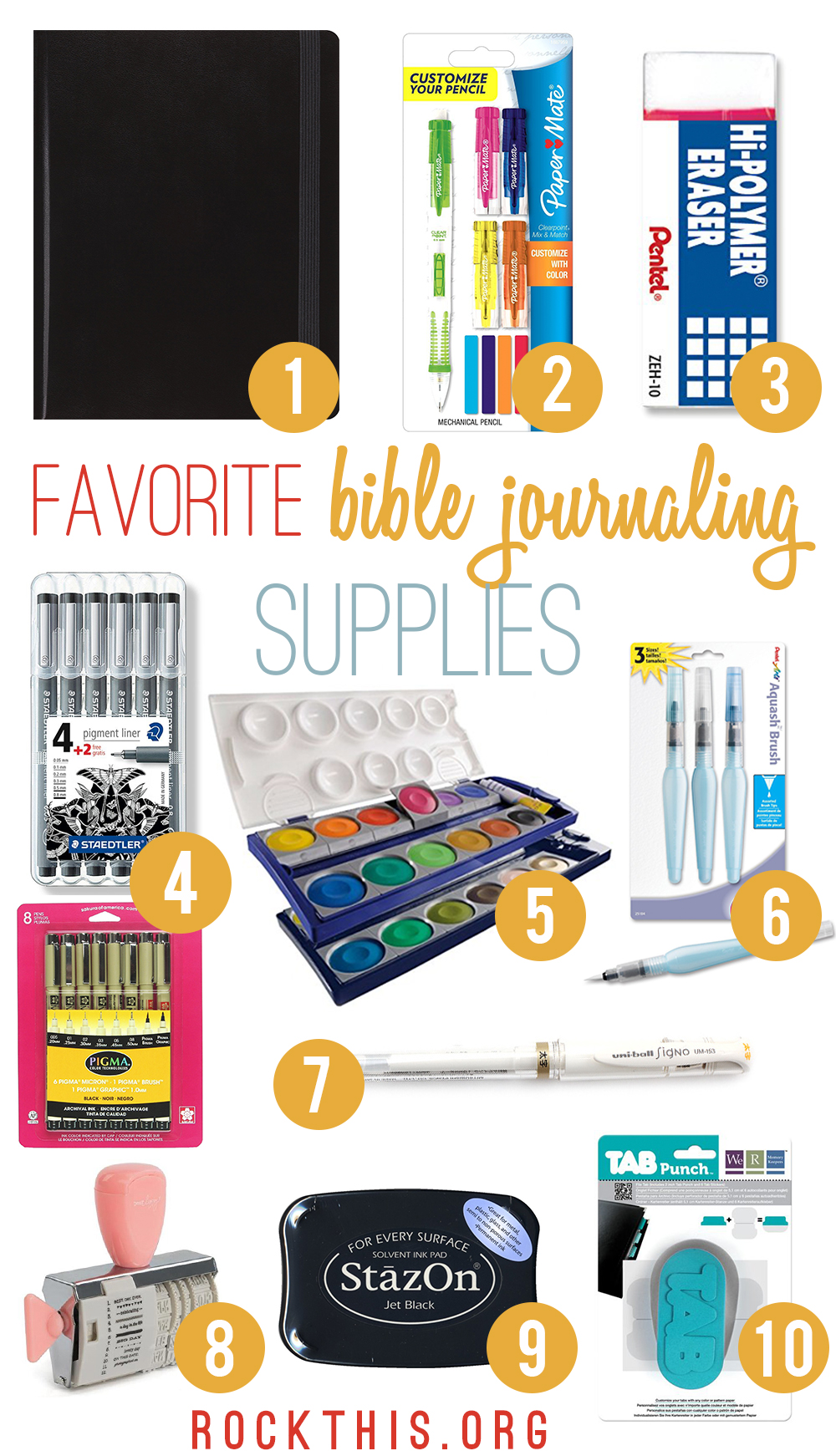 New to Bible journaling and don't know what supplies you need? He's a great list of Bible journaling supplies to get you started in the world of illustrated faith.