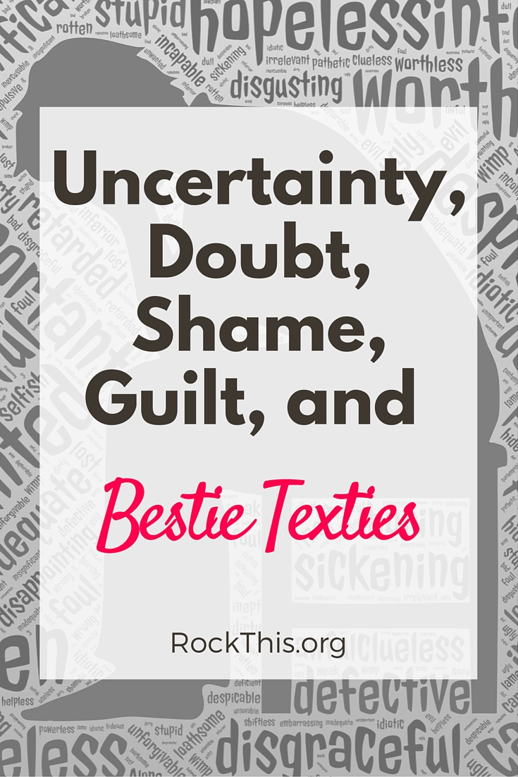 "The Devil's MO is to keep us isolated. God wants us in community! Check out this excerpt: Bestie Texties:  I wasn't sure if this was commonly used term or one I made up….until I googled the term and saw that ""textie"" is now used to describe people you text all the time, like besties. (Thanks, Urban Dictionary.  I was worried you would give me an inappropriate definition, but you kept it clean, win!)"