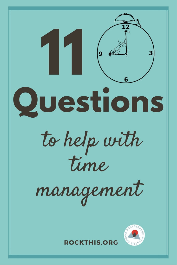 Need more TIME? Where does it go? And how do I get more of it? Great read on time management so we can make the most of the time we have.