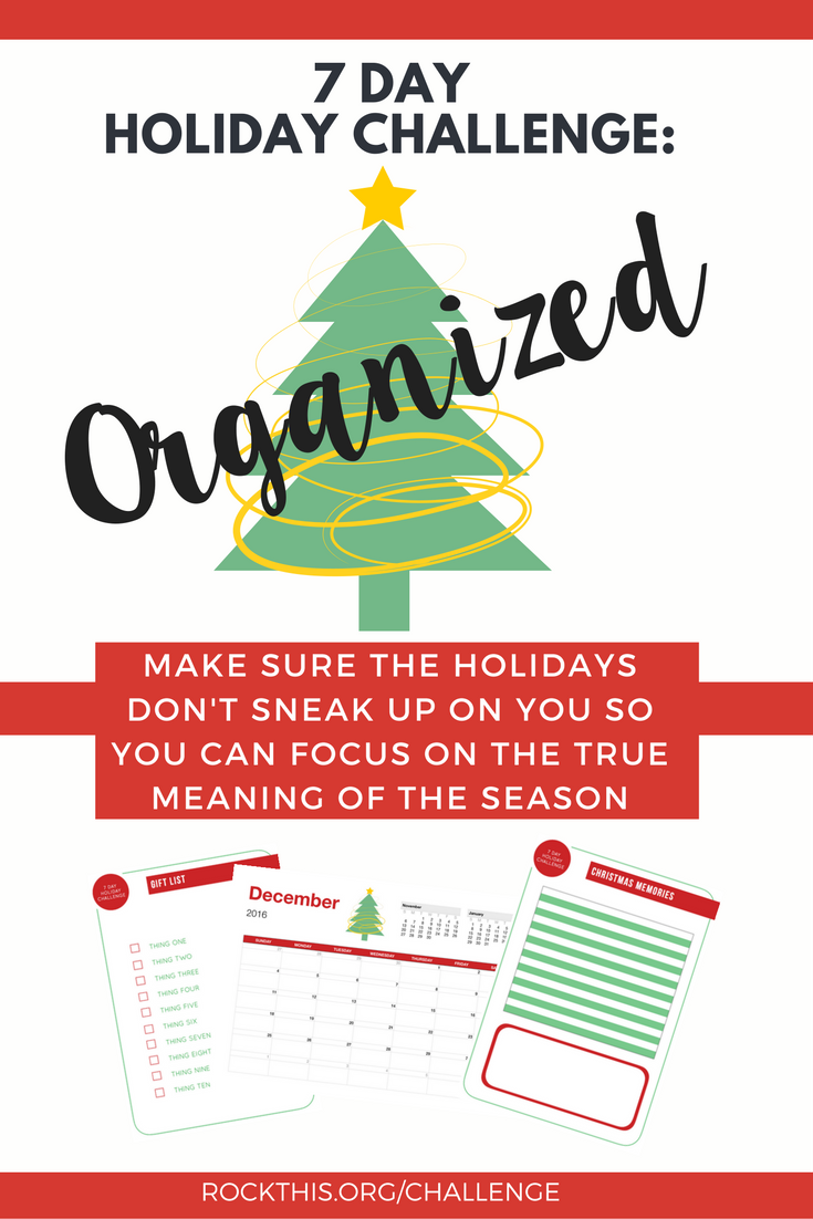 Tired of Christmas being the most stress time of the year? Ready for it to be the most WONDERFUL time again? Join us in our 7 Day Holiday Challenge to get you set up for a fabulous holiday season.
