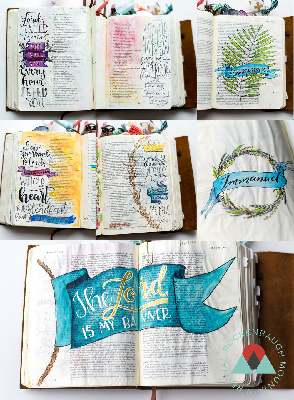 If you're new to Bible journaling or just looking to expand your drawing skills, in this post, you will learn how to draw 5 (super simple) banners to add to your bible journaling pages! It includes a video, examples, and also a FREE printable practice sheet!