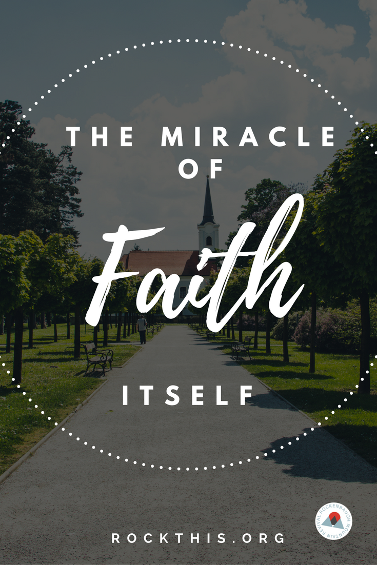 So many times we think the miracle is the outcome. Often time the miracle is simply the growing of your faith.