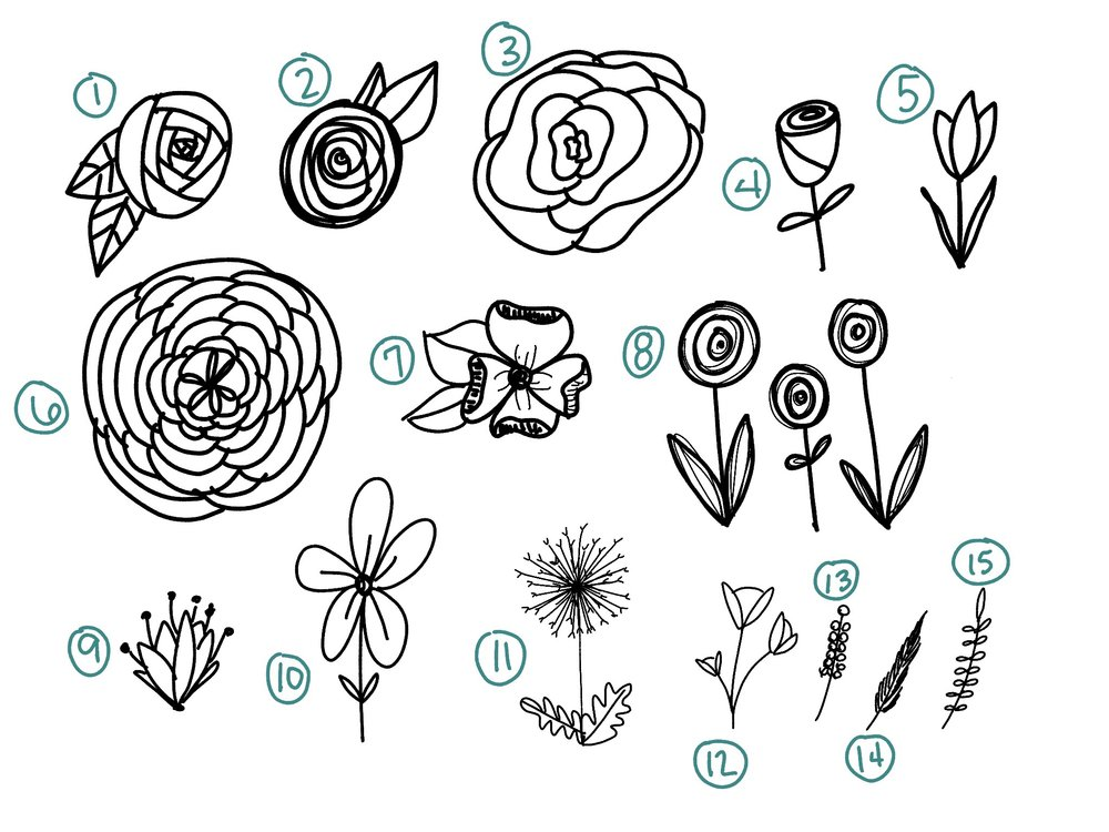 How To Draw 15 Effortless Flowers For Bible Journaling T His