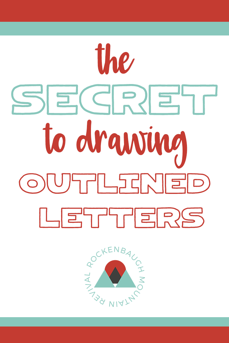 Have you ever seen words that look like the letters are outlined or 3 dimensional? And then you try to draw them yourself and you just can't get them to look right? The video tutorial included in this blog post will give you the secret to making your outlined or 3D letters look great!