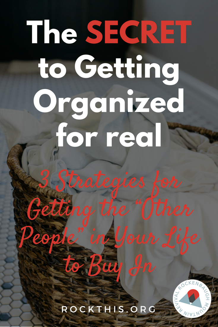 Getting organized is hard! Trying to get the rest of your family to jump on board is even harder. If you've ever struggled with getting your family and friends on board with getting organized, you've gotta check out this post!