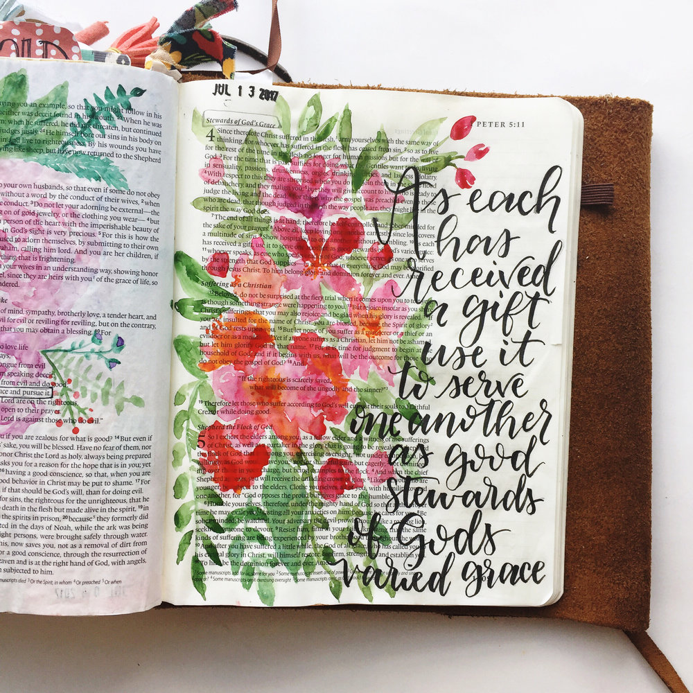 Where are all those warm fuzzy feelings you were promised when you started Bible journaling? Are you just feeling less than? Like everyone is a better artist than you and your bible pages just don't add up? Please read this blog post about negative feelings you may experience when you're bible journaling and how to overcome them.