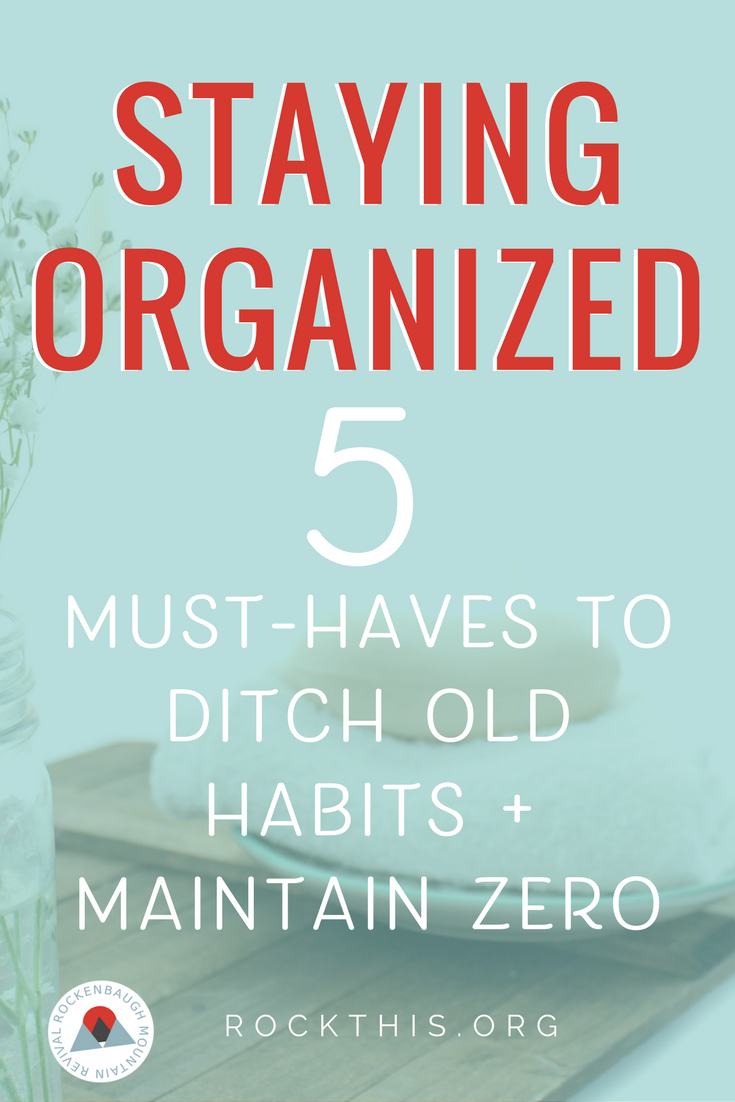 Bad habits are hard to break. But, it's the good habits we create that allow us to get our lives organized. If you've ever struggled to maintain an organized space, you've got to check out this post!