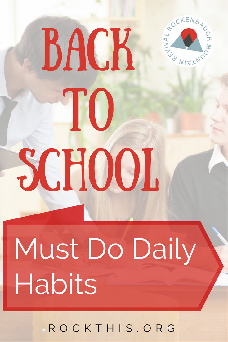 Looking for some habits to implement in your Back to School routine?  Read on for some easy ways to make life so much easier this school year.