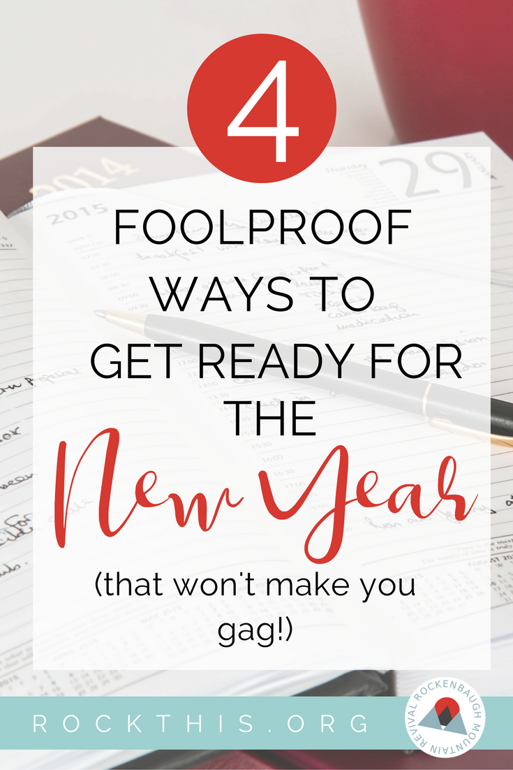 "Stressed about making New Year's resolutions with unfinished business hanging over your head?  Check out a simple strategy for finishing ""old year"" tasks that will get rid of New Year stress. #newyearnewyou #newyearsresolutions"