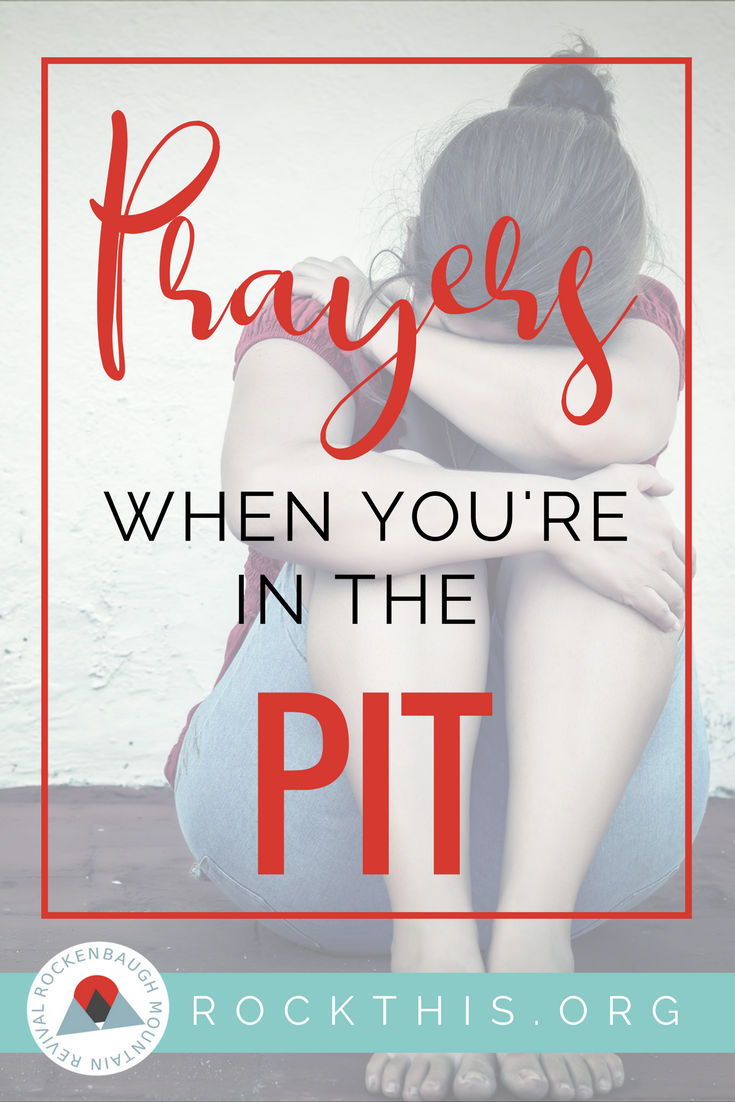 Are you down and out? Tired of being in the pit? Exhausted from the fight? These simple, yet powerful prayers can start you on the road to freedom. #grief #prayer