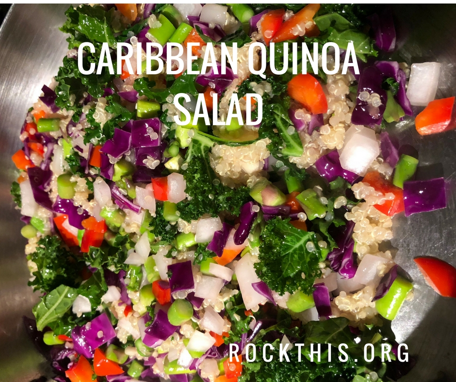 Caribbean Quinoa Salad - A fresh new take on quinoa. This recipe is easy and packed with superfood nutrition!  #quinoa #superfoods #recipes