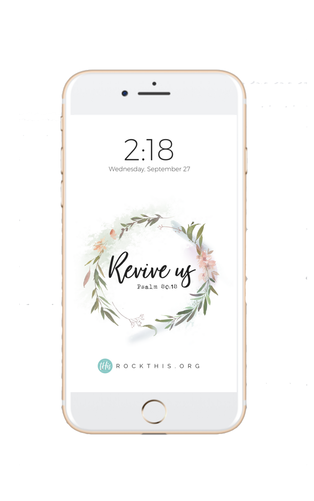 Need a little encouragement in your day? Grab your FREE Scripture lock-screen! #Revival #lockscreen