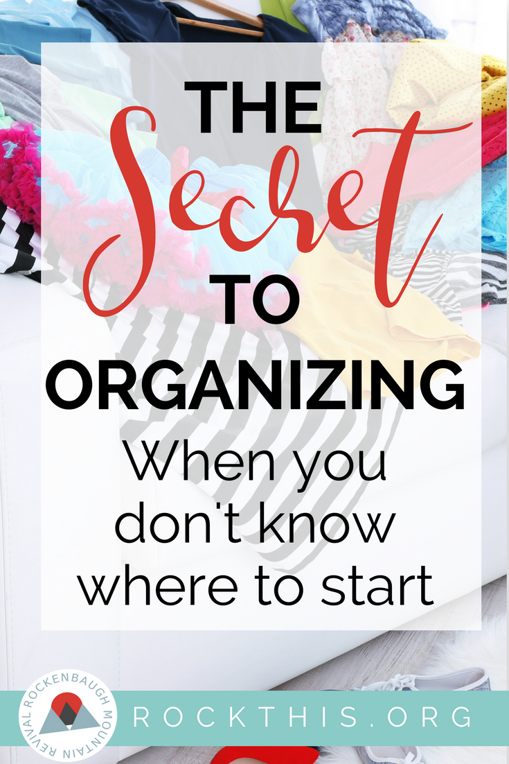 You know you need to get clean out the clutter, but how do you start getting organized? Here is an actual solution to get you started. And it's doable today! Definitely a read now post! #howtogetorganized #organization #organizationhacks #clutter #organizationideas