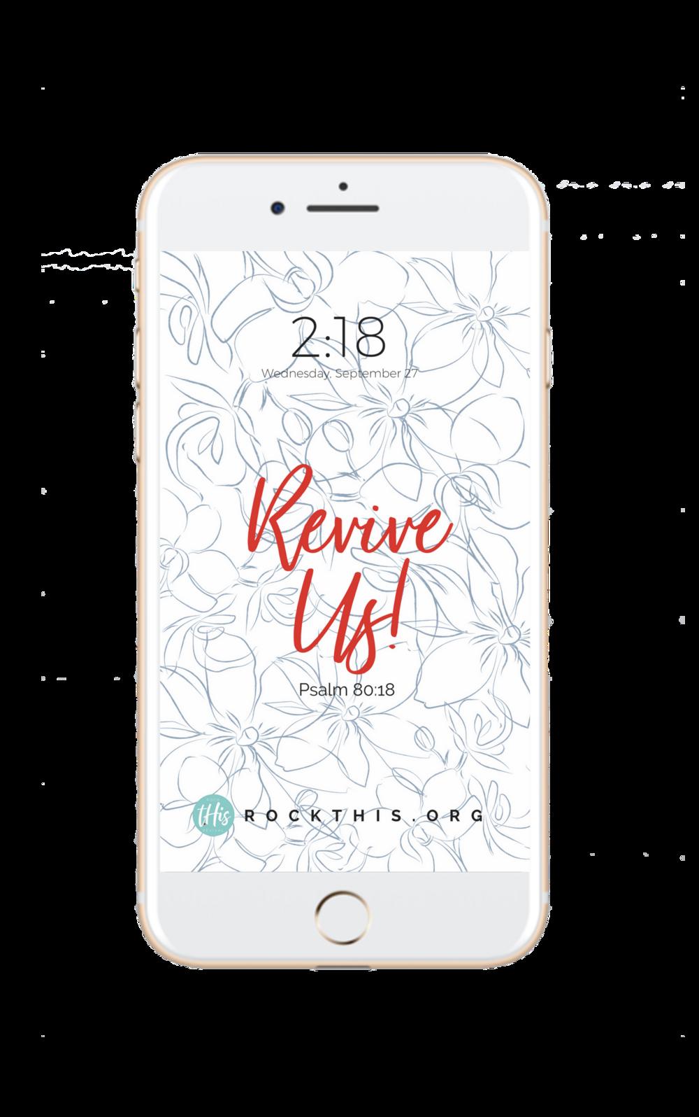 Scripture Lock Screen | Revive Us