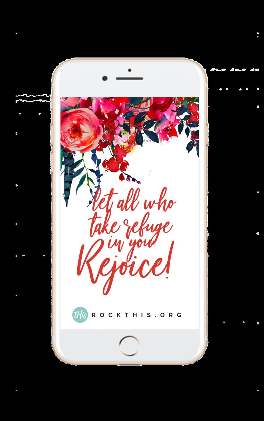 Scripture Lock Screen for Phone | Rejoice