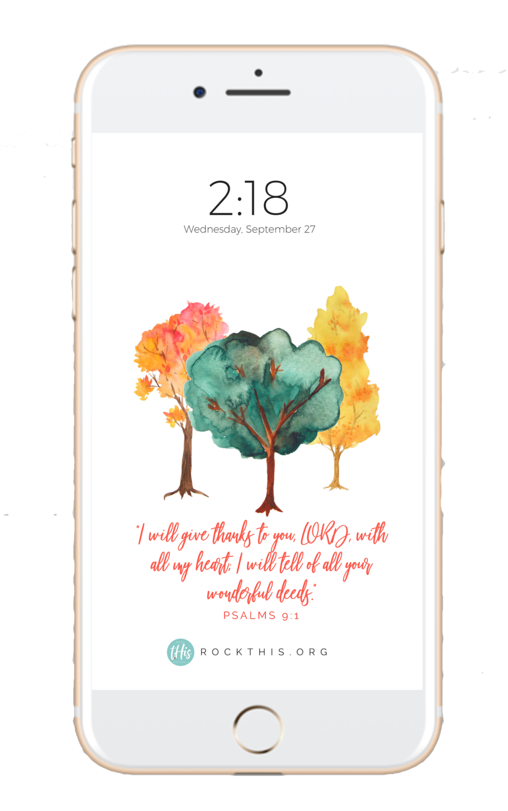 Scripture lock screen