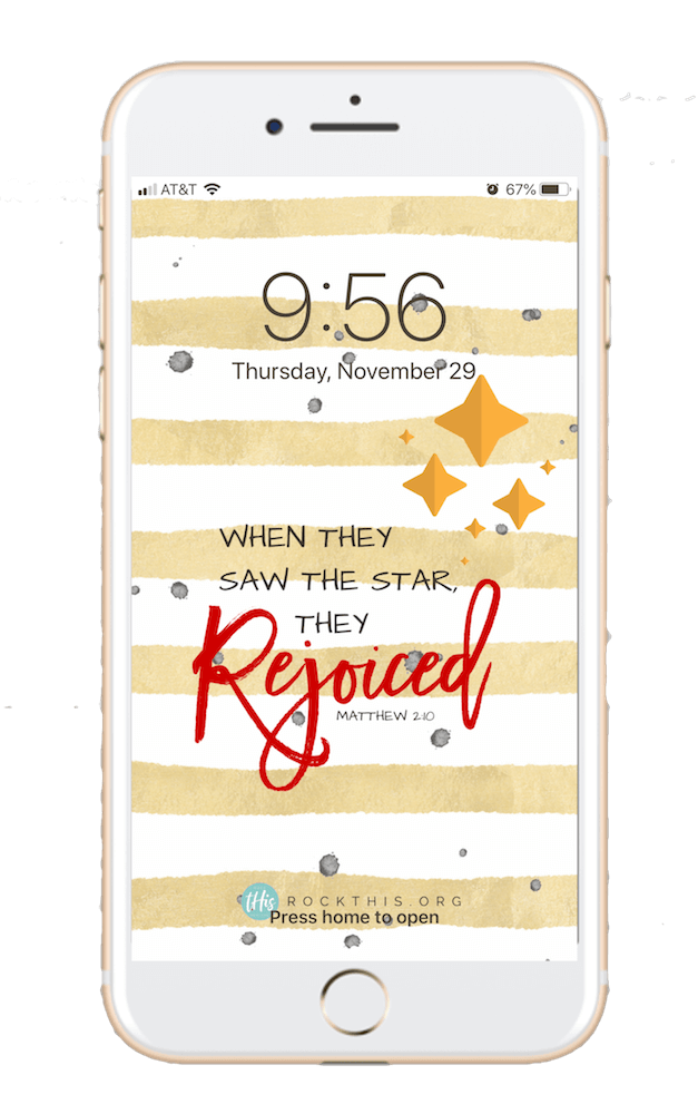 Lock Screens | Free Lock Screens | When they saw the star they rejoiced #rockthisrevival #scripture #lockscreen