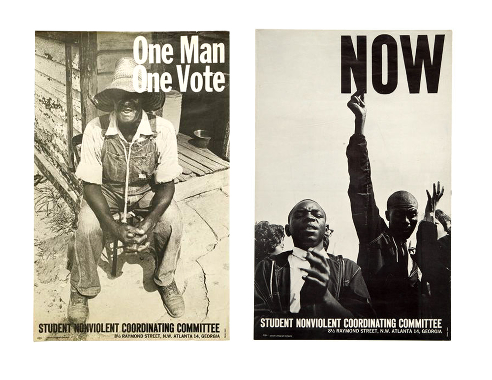 These two bold and historic posters are near the top of Mussell's 'Wanted List.'