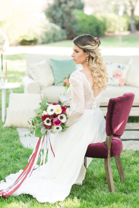 Burgundy + Blue Styled Shoot