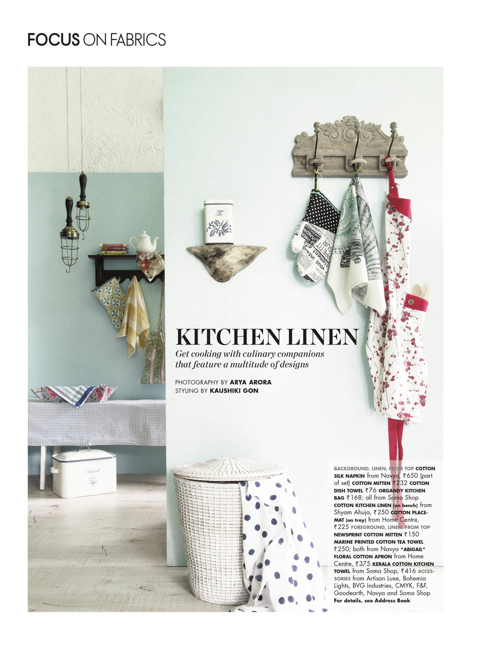 Elle Decor - Kitchen Linen