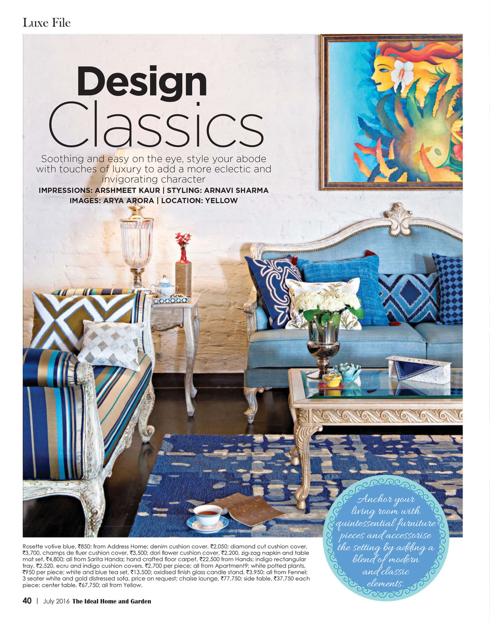 Ideal Homes - Design Classics