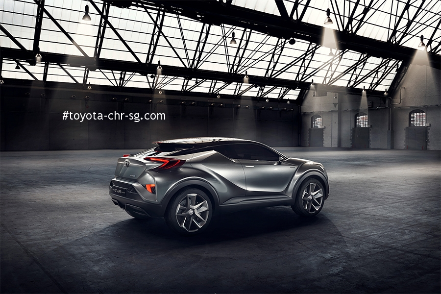 TOYOTA C-HR Rear Angle with Side View